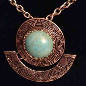 Turquoise boho Geometric Necklace
